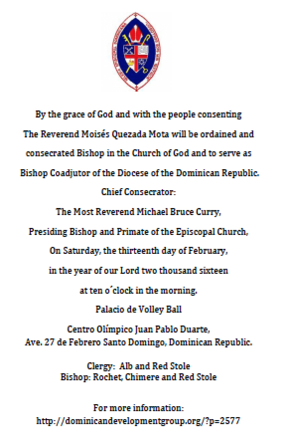 Bishop Coadjutor Ordination And Consecration Information